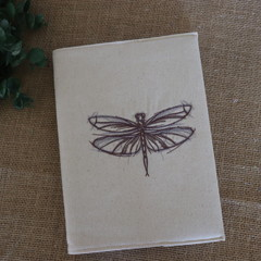 A5 Reusable Notebook Cover and Book- Dragonfly Cover
