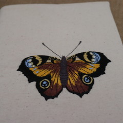 A5 Reusable Notebook Cover and Book- Butterfly