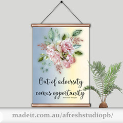 Out of adversity quote DIY Printable