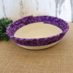 Rope Bowl- 1/2 Purple