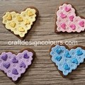 8 x Iced Heart Cookies (kit) Die Cut