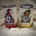 Let it be gnome wine tumbler