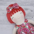 "Handmade rag doll, 40cm (16""), dress up doll, cloth doll."