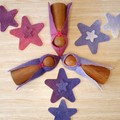 Wooden Dolls Purple Ombre 3 Pegdolls