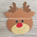 2 x Reindeer Heads (kit) Die Cut