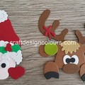 1 set x Santa & Reindeer Peekers (kit) Die Cut