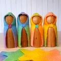 Wooden Dolls Rainbow Peg dolls
