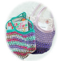 Market bag, mesh,  crochet, reusable