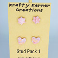 Pink and Rose Gold Stud Packs