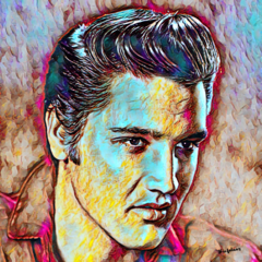The King. Elvis Presley. Oil Painting. Fine Art Print (Limited Edition)