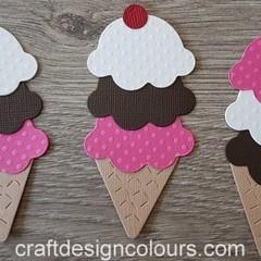 6 x Ice Cream Die Cuts