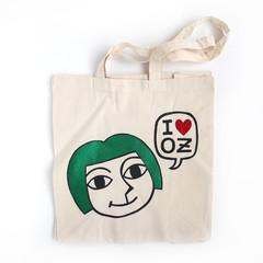 I love OZ Girl - Natural Organic Cotton • Eco Reusable Shopping Tote Bag