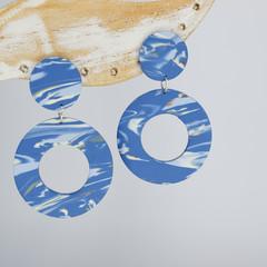Denim Blue Circle