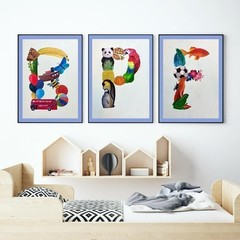 Personalised Name Frame, Nursery Print, Hand-Painted Alphabet, Baby Art