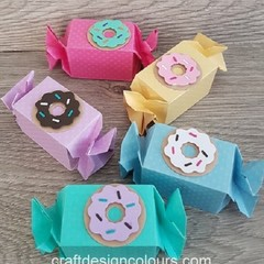 5 x donut Candy Boxes