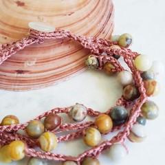 Crazy Lace Agate Bracelet
