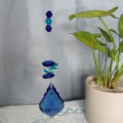 Blue Crystal Suncatchers