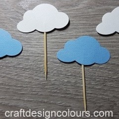 Clouds Cupcake Toppers