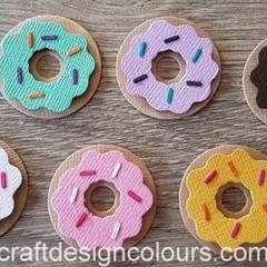 6 x Donuts with Sprinkles Die Cuts