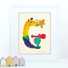 Letter 'G' Nursery Print, Hand-Painted Alphabet Painting, Wall Art, Baby Name