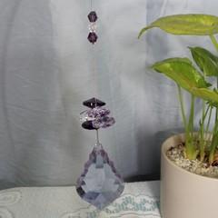 Lilac Crystal Suncatchers