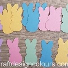20 x Candy Bunny Die Cuts