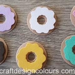 6 x Donuts  Die Cuts