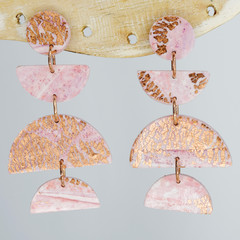 Pink and Rose Gold Semi Circle Trio