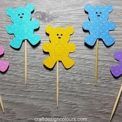 Teddy Bears Cupcake Toppers