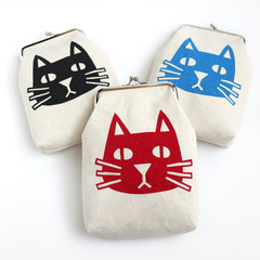 Handmade Cat Metal Clasp Glasses/Pencil Case • Both Sides Printed