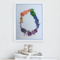 Letter 'O' Nursery Print, Hand-Painted Alphabet Painting, Wall Art, Baby Name