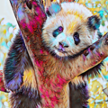 Posing Panda. Fine Art Reproduction Print (Limited Edition)