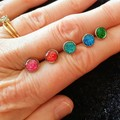 Tiny 6mm stud earrings variety of colours