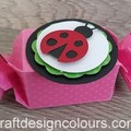 6 x Lady Bug Candy Boxes