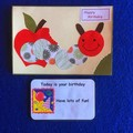 Hungry Caterpillar Birthday Card