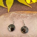 Classic Black Silver Earrings or Necklace