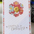 Birthday  Handmade Card - FREE POST