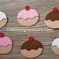 12 x Mini donut Die Cuts (kits)