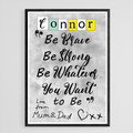 Easy Customisation, Kids Room Printable Phrase, Boy or Girls Instant Download