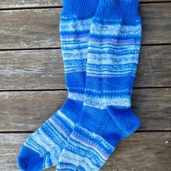 Crazy Socks - a rhapsody in blue