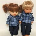 Miniland and Minikane Dolls Shorts  and Top to fit 38cm Dolls