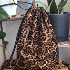 Beautiful animal print drawstring backpack