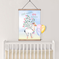 Llama Little Moments Big Memories Quote DIY Printable