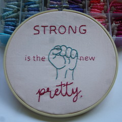 Strong is the new pretty completed piece