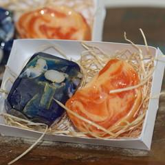 Gemstone Soap x 2 / Dark blue and Orange