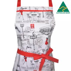Paris Red Dress Women's Apron FREE Tracked Post !