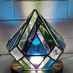 Gem Stained Glass Lamp