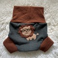 Medium Little Lion wool nappy cover