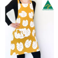 Mustard Leaf Cross Back Apron FREE Tracked Post !