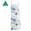 Blue Flower Cross Back Apron FREE Tracked Post !